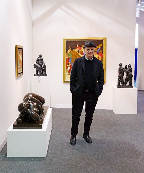 Steve Martin at the 2016 Armory Show. Courtesy of Lawrence Schwartzwald.