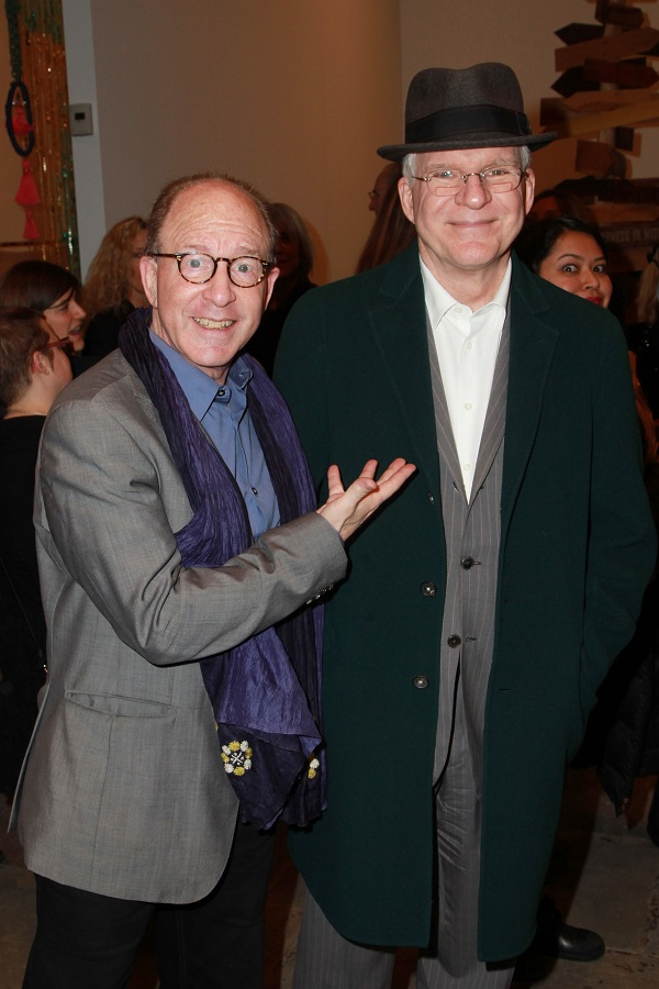 Steve Martin with art critic Jerry Saltz. Courtesy of J Grassi/Patrick McMullan.
