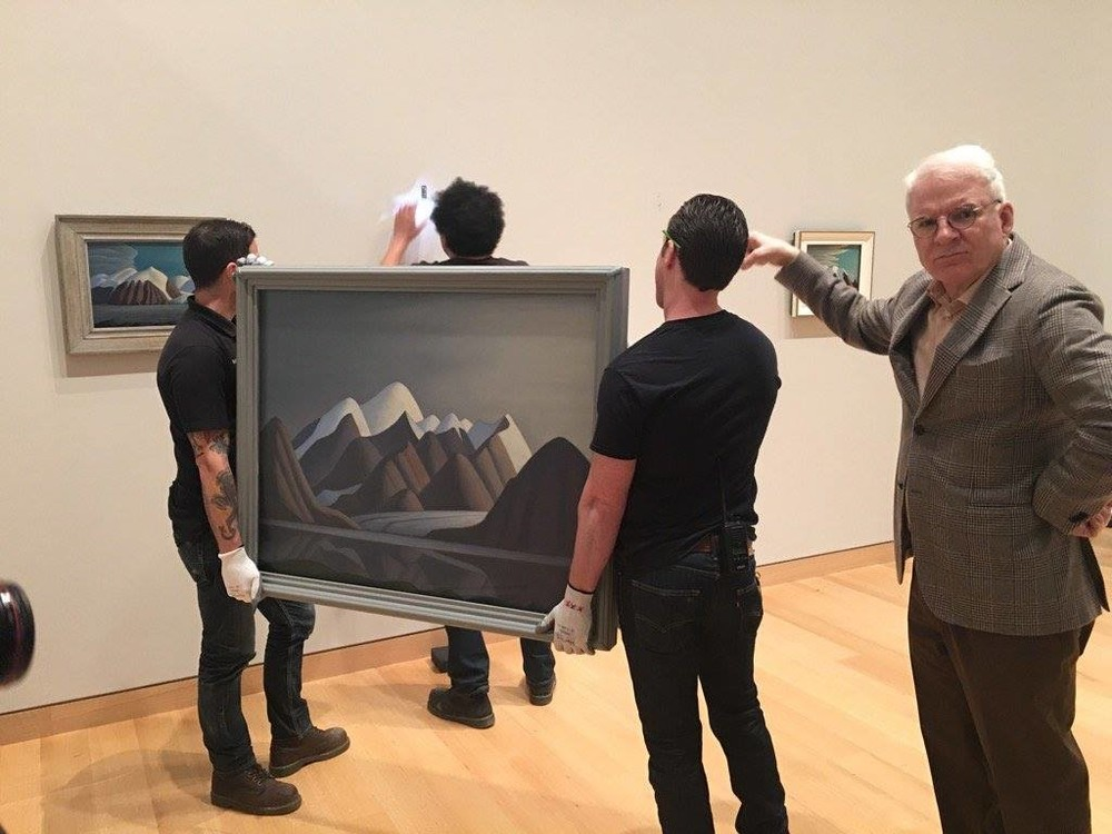 Steve Martin curated a survey of Lawren Harris' work at the Hammer Museum, Los Angeles. Courtesy of Steve Martin via Facebook.