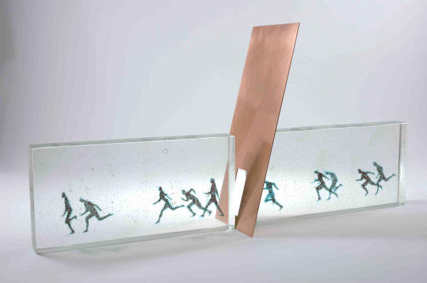 Carol Lawton. Doorway, 2007. Cast Glass/copper. 12 x 25 x 6 in.