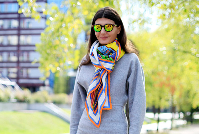 Giovanna Battaglia, Paris Fashion Week. Photograph by Silvia Olsen, courtesy of White Line Projects.