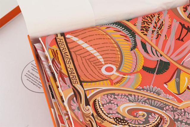 "Hermès "" De La Mer Au Ciel "" silk twill scarf, c. 2014, designed by Laurence Bourthoumieux,  Chiswick Auctions  (October 2016)"