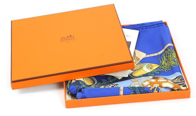 Lot 660, Hermès Grand Fond silk scarf, c. 1992, designed by Anne Faivre, Chiswick Auctions (December 7)