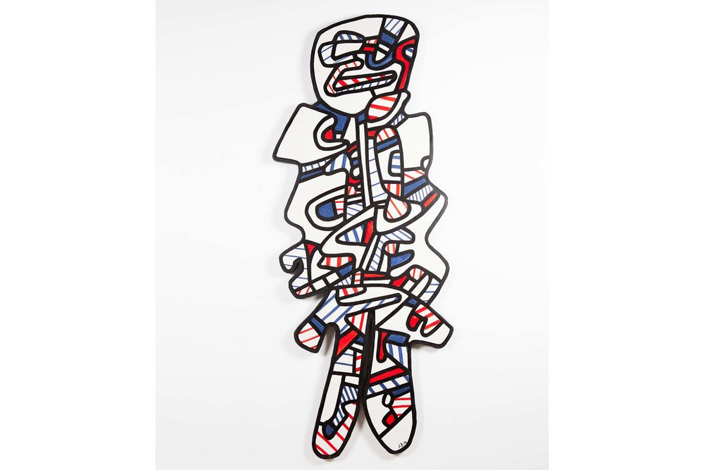 Jean Dubuffet's Le Gommeux, made in 1972. Source: Phillips