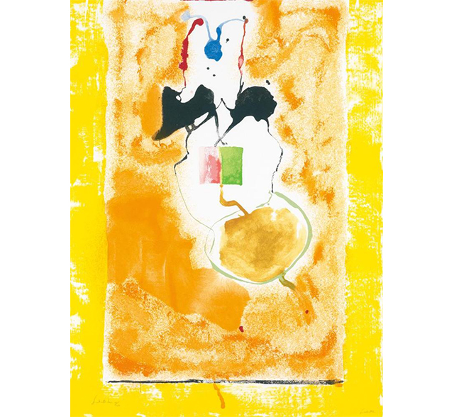 "Lot 21 , ""Solar Imp."" by Helen Frankenthaler, color screenprint, numbered 60/126,  Swann Auction Galleries  (November 15)"