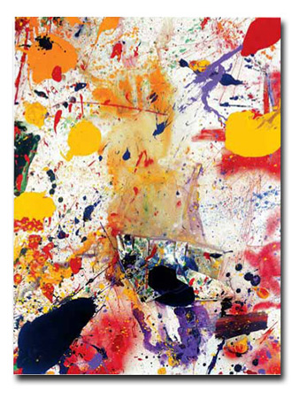 Sam Francis. Untitled, 1990, collage and acrylic on canvas. 245 x 183 cm