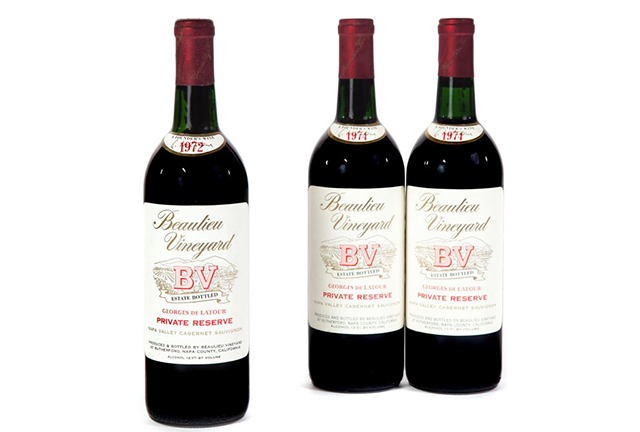 1974 Bealieu Vineyard BV Georges de Latour Private Reserve Cabernet Sauvignon, Garth's Auctioneers & Appraisers (November 11, 2016)