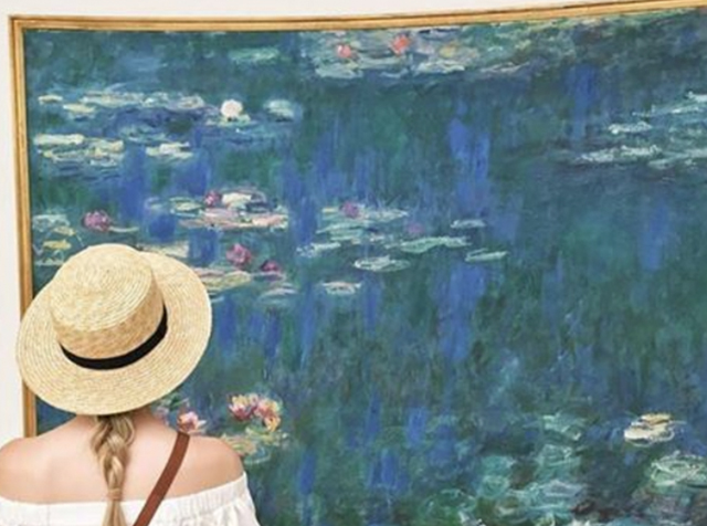 """ Les Nymphéas "" by Claude Monet at The Musée de l'Orangerie. Photo courtesy of The Musée de l'Orangerie via  Instagram ."
