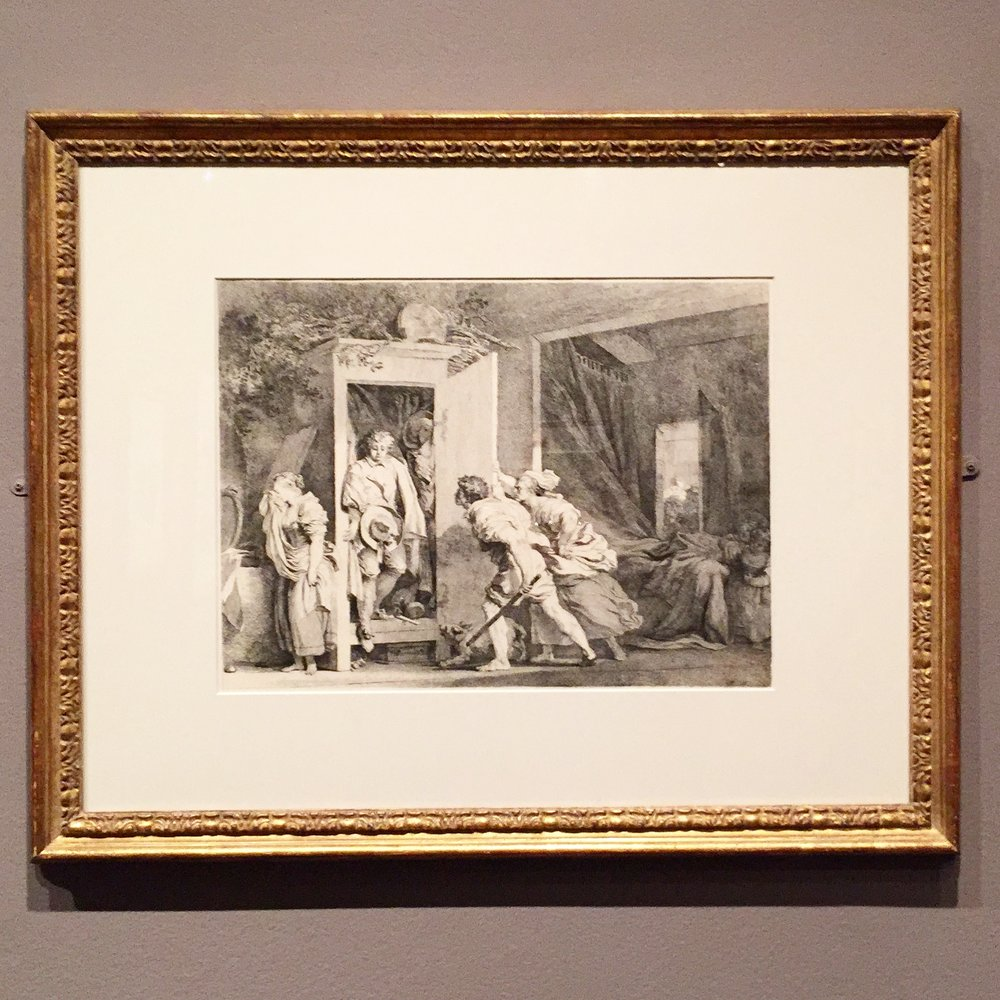 Jean Honoré Fragonard. The Armoire, 1778. Etching, first state of four.