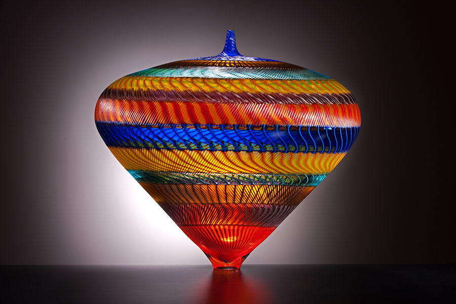 Piccadilly , 2009; 8.5 x 9.5 x 9.75 inches; blown and engraved glass