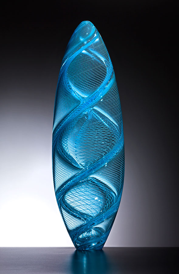 Spirale , 2016; 22 x 7.25 x 7.25 inches; blown glass