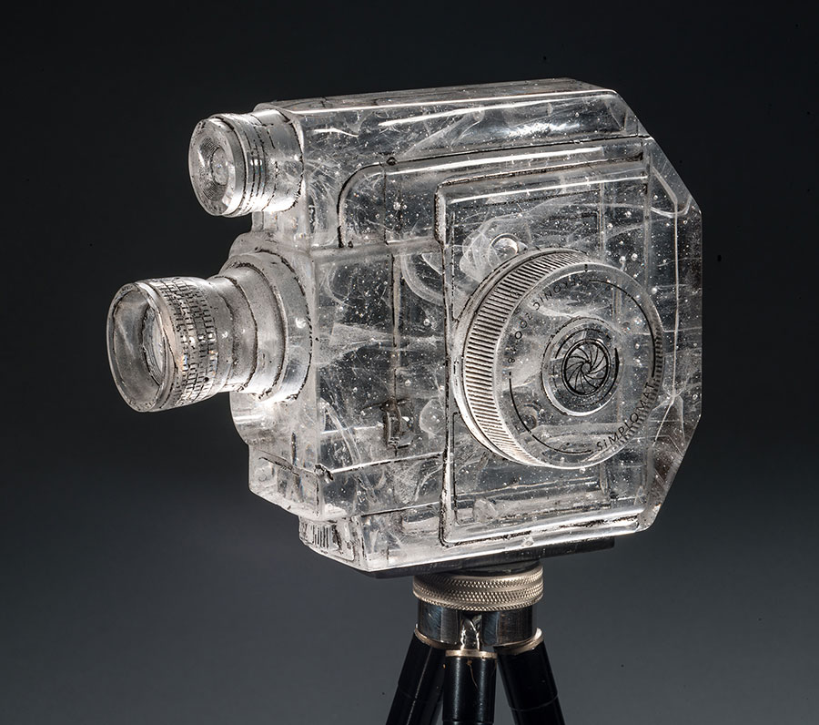 Sekonic , 2013; 6 x 3 x 7.75 inches; glass, paint, antique Kodak tripod