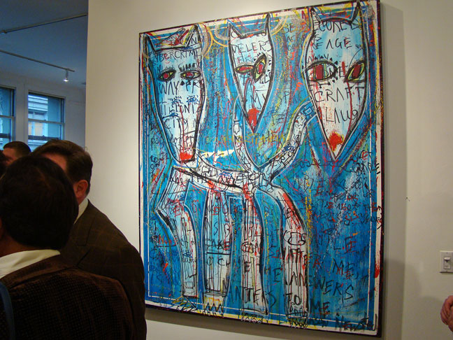 Installation view of Jason Newsted's exhibition in San Francisco, 2010.