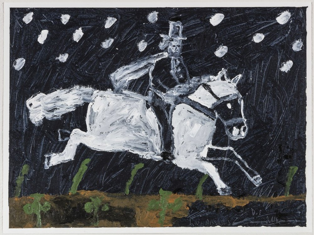DANNY FOX, Rider in Snow, 2016