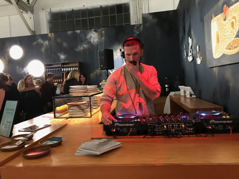 Yes, the DJ at the opening gala for FOG Design+Art was pretty good! After all, an art fair is about all kinds of art.