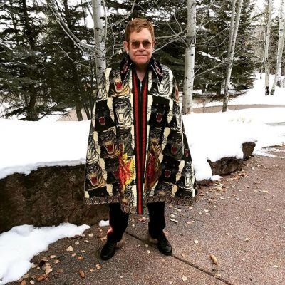 Sir Elton John is on  Instagram ! Wearing a fabulous Gucci cape, sigh...
