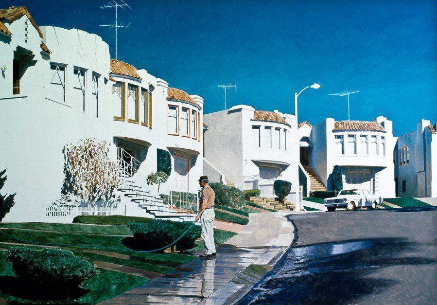 Robert Bechtle (American, b.1932). San Francisco Nova, 1979. Oil on canvas, 46 in. x 69 in. SFAC 28