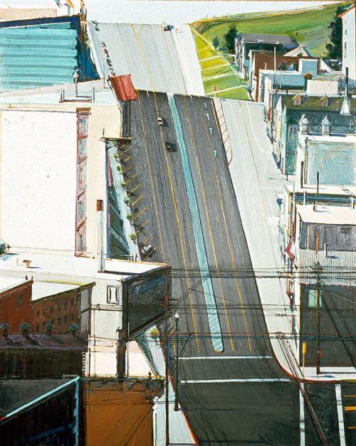 Wayne Thiebaud (American, b.1920). 18th Street Downgrade, 1978. Oil on canvas, 60 in. x 48 in. SFAC 18