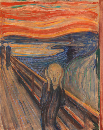 Edvard Munch, The Scream, 1893. Image via  Wikimedia Commons .