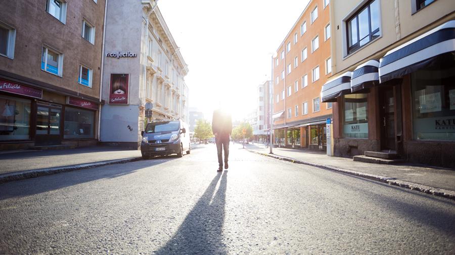 Pakkahuoneenkatu, Oulu 2014. Kuva/Photo Sanna Krook.