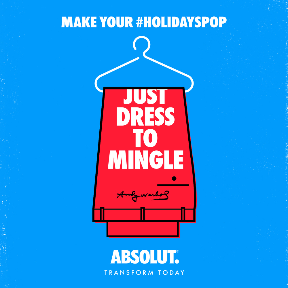 Don't just break the ice, pop it. Get the conversation flowing with an outfit that would make Andy proud. #holidayspop