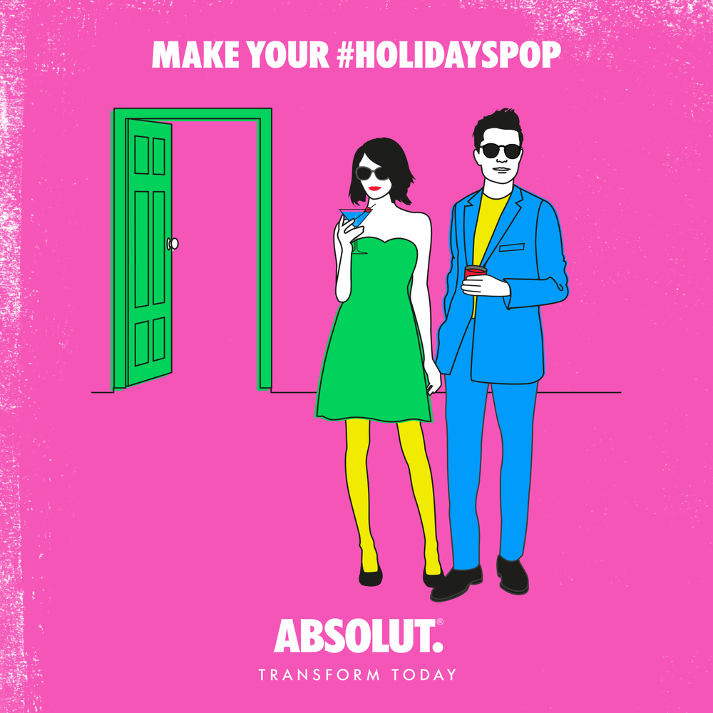 The early bird gets the worm. It also gets the first cocktail. Rule #1 for making a great entrance to your holiday parties: don't be fashionably late. #holidayspop