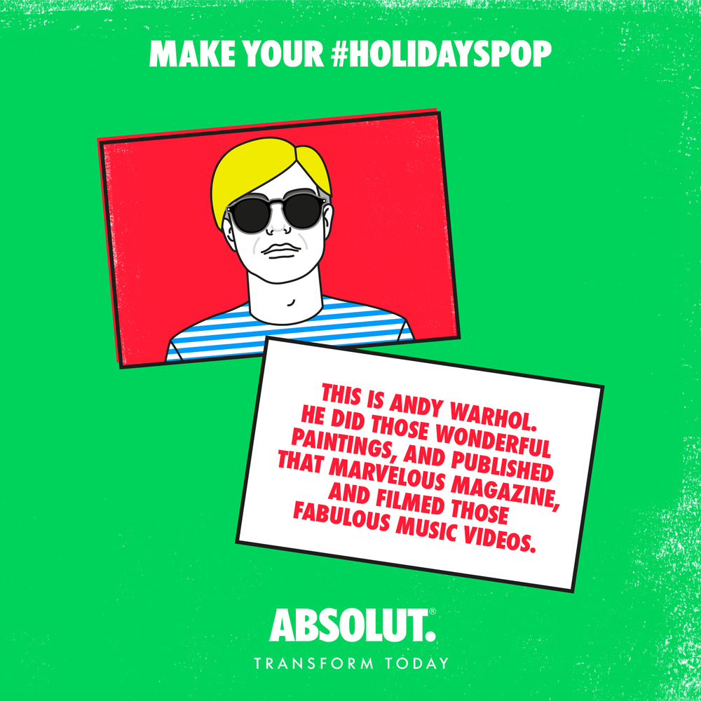 Party pro Andy Warhol said that everyone should carry a party card when they go out. Think a business card that's anything but. #holidayspop