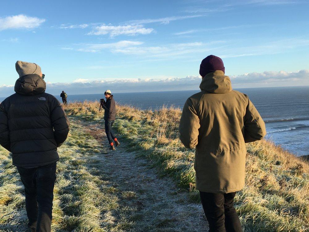Frozen path Yorkshire