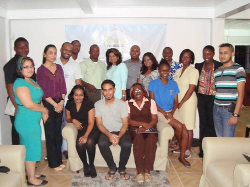 Volunteers of the Guyana Foundation after a planning meeting.