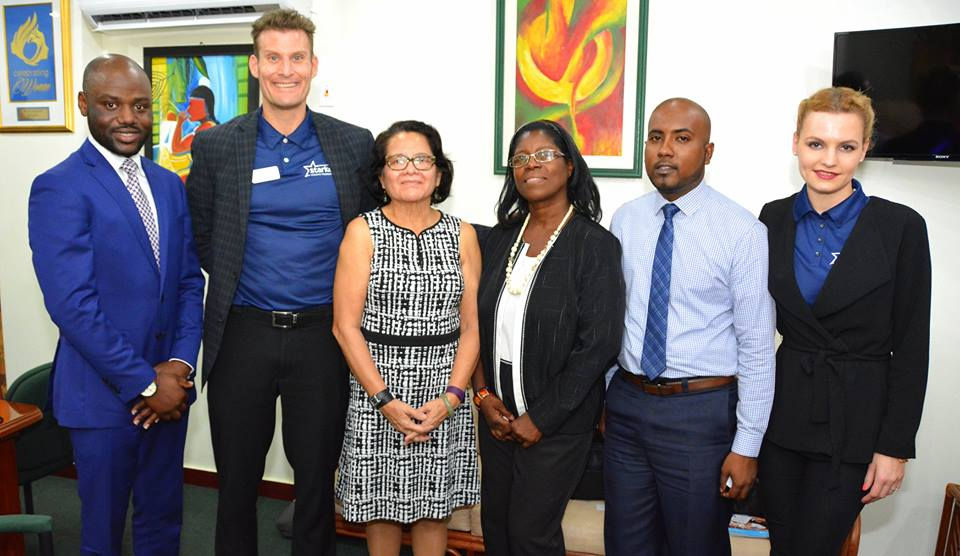 L-R: Dr. Luqman Lawal, Derek Johnson, First Lady Mrs. Sandra Granger, Dr. Ruth Quaicoe, Anthony Autar and Julia Lis