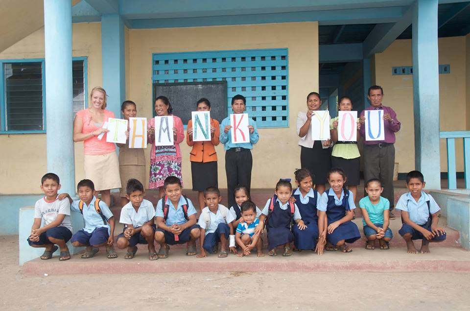 A thank you message from students of St. Nicholas Primary School, in Manawarin