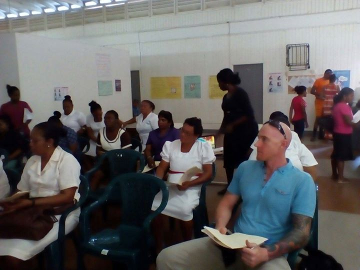 Some of the participants at the workshop at the Sunrise Center, Zorg-en-Vlygt, Essequibo Coast.