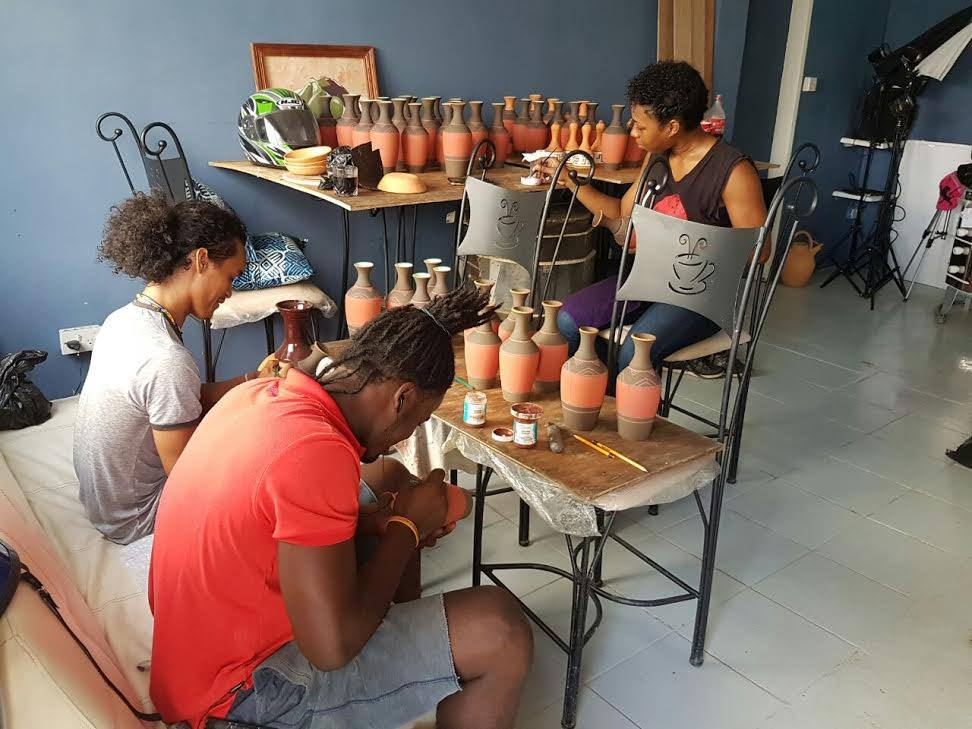 Pottery making in Guyana.