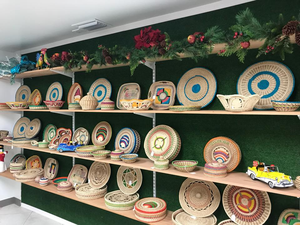 Some of the Craft from Guyana at our Hand Made With Love Store in the Grand Cayman (November 2017).
