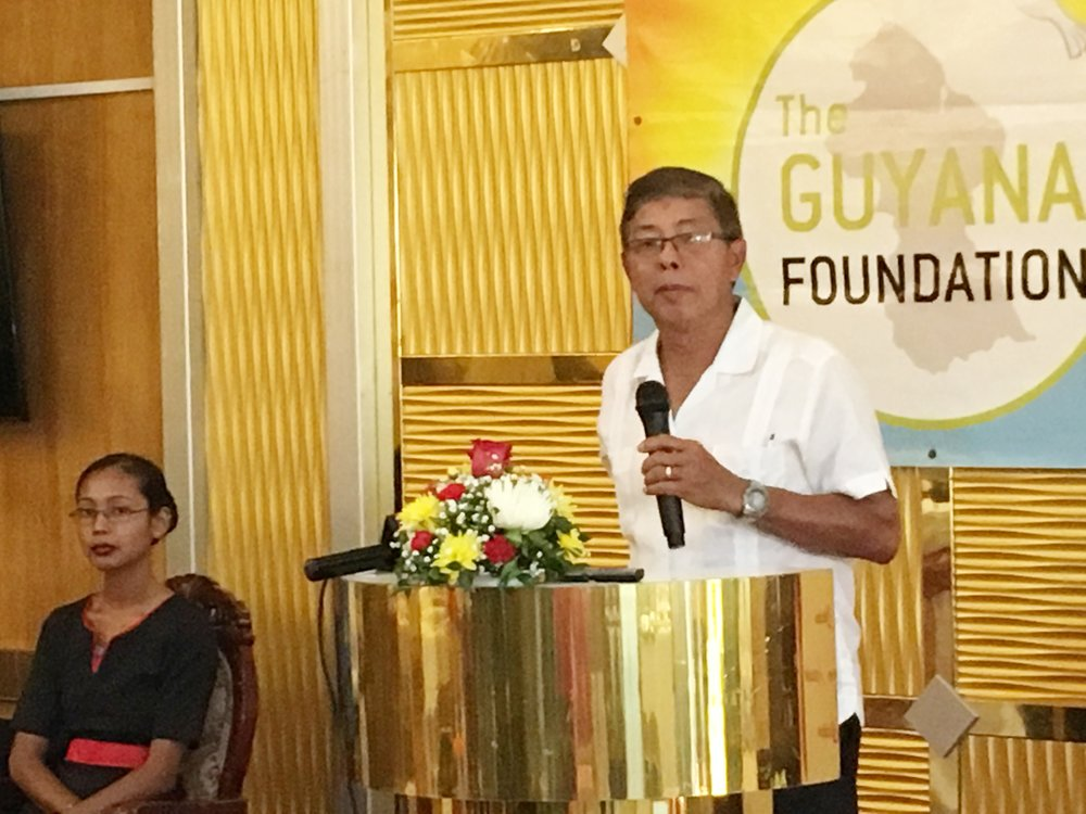 Mr. Stanley Ming, Trustee of the Guyana Foundation delivering brief remarks.