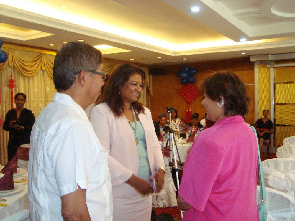 Press Conference/Luncheon: Interacting with the Canadian High Commissioner to Guyana, Her Excellency, Ms. Lilian Chatterjee.