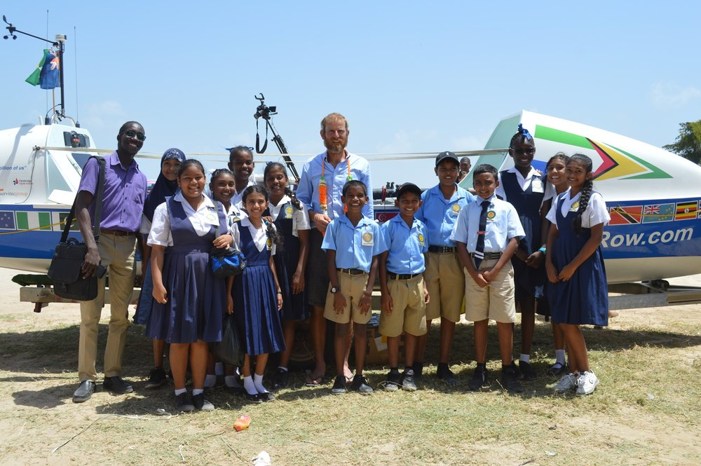 At the Marriott Beach with students of Providence Primary School.