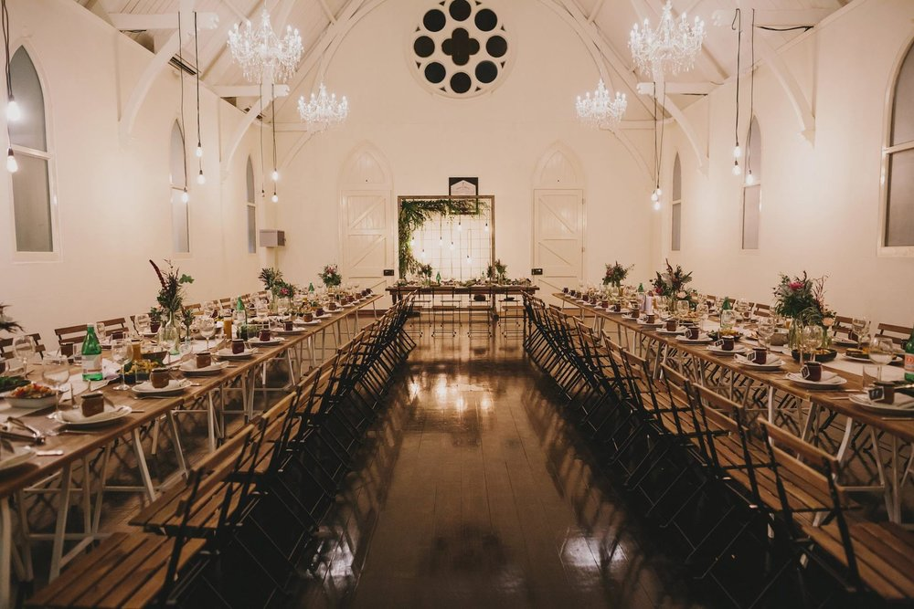 You don't want your wedding in a Church? You may think again if you haven't viewed High Church Brisbane. We are absolutely swooning over Kristina and Nick's church wedding. The colours, the mood, the style, the sharing and caring! This wedding brings a WHOLE new meaning to church weddings Brisbane :) Photo via Lover of Mine.