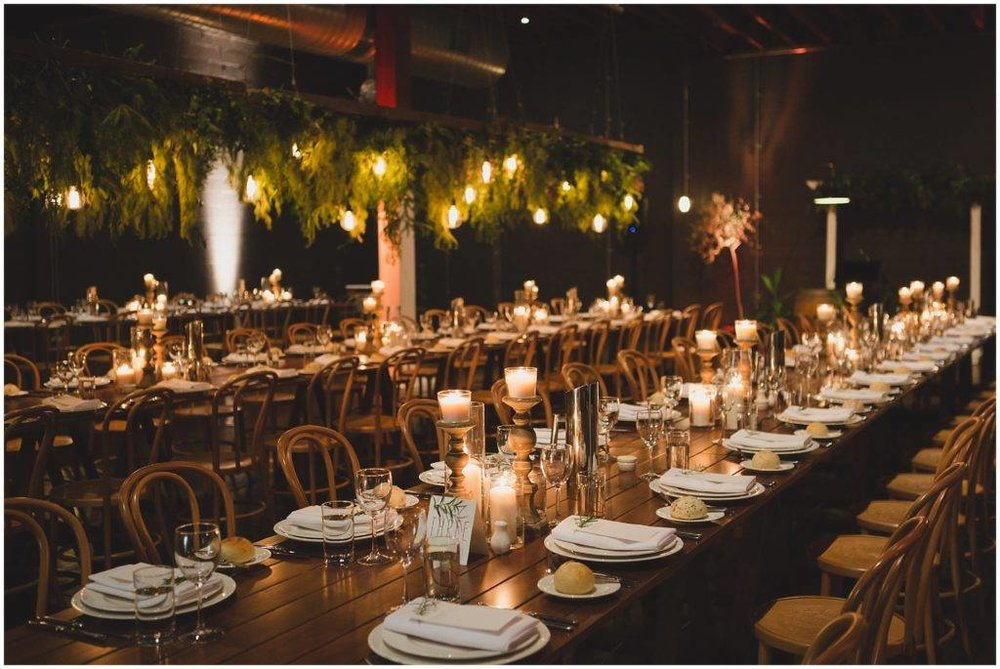 Warehouse weddings be like > WOW! Lightspace Brisbane has to be one of our favourite Brisbane warehouse reception venues. Main Event couple Emma & Sean allowed us to transform a blank, warehouse style canvass into an intimate and discreet wedding venue bursting with inspiration for future Brisbane brides. Photo via Lover of Mine