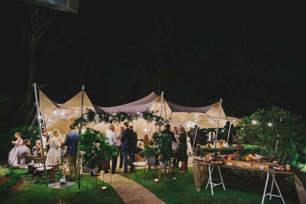 Not all weddings need to be 3 course sit down with a beverage package. We loved that our Main Event couple Carly & Adam chose a Brisbane teepee wedding. Their Kenmore neighbours peered in envy as we transformed their backyard into something truly unique and personalised to them. Photo via Lover of Mine.