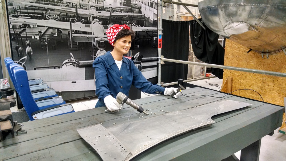 Rosie the Riveter hard at work