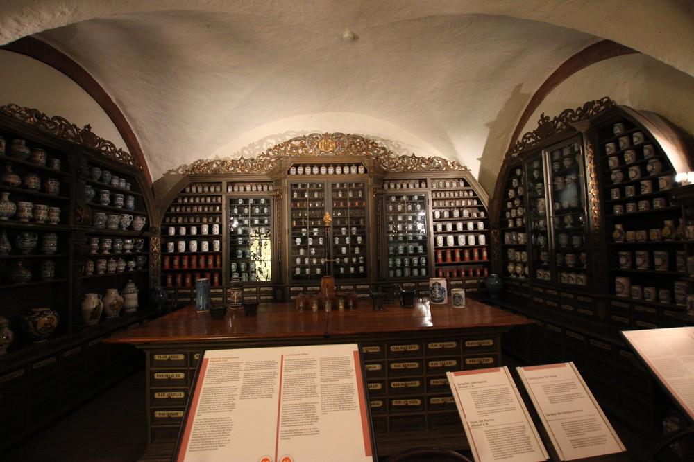 Beautifully ornate pharmacy!