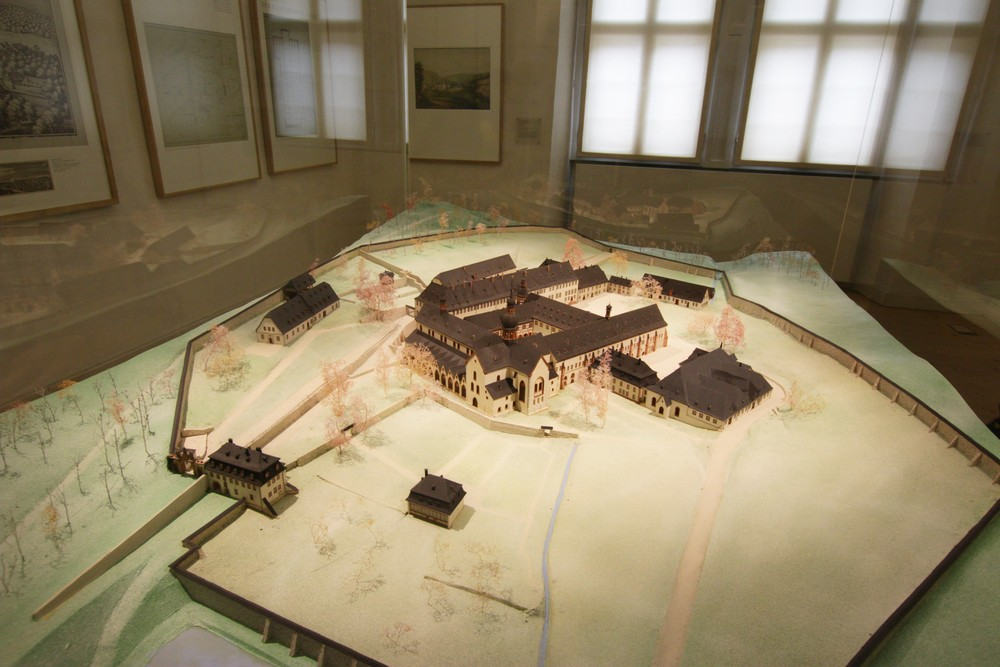 Model of the grounds of the Abbey