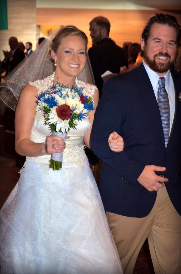 The beautiful bride and her new husband