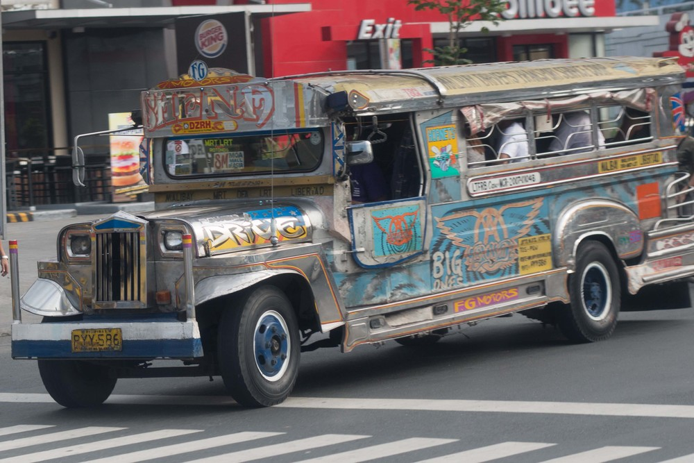 The preferred method of mass transit appears to be the Jeepny.  We didn't ride in one in Manila, but we did a little later in the week