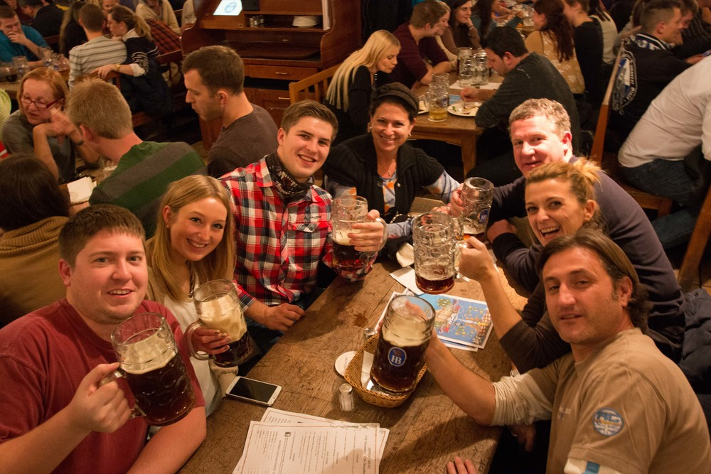 Our tablemates at Hofbrauhaus!  Such a fun table!