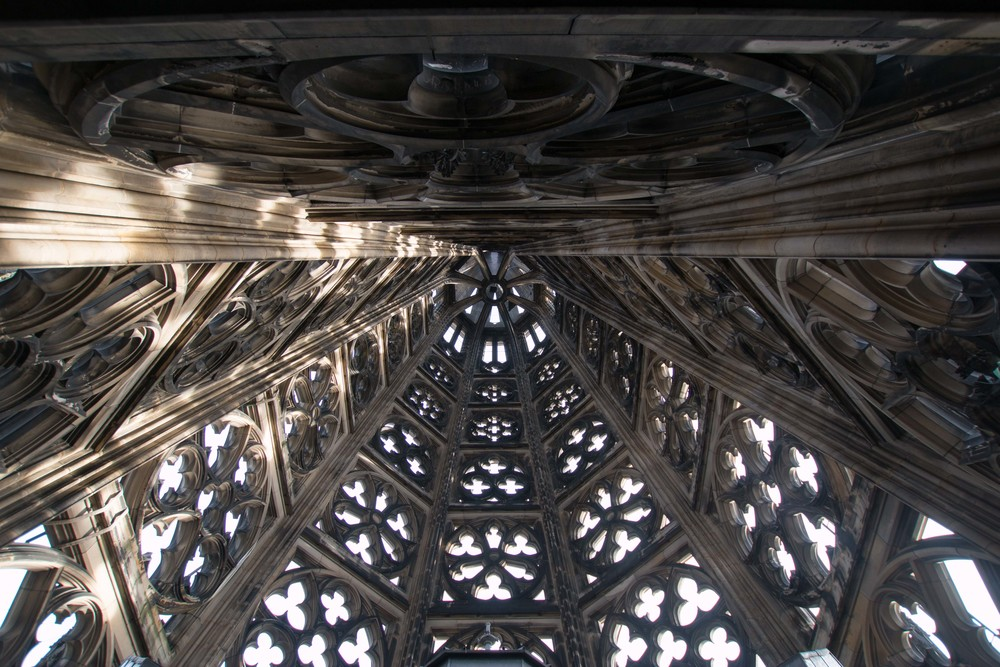 View looking up in the top of the tower.  Simply stunning!
