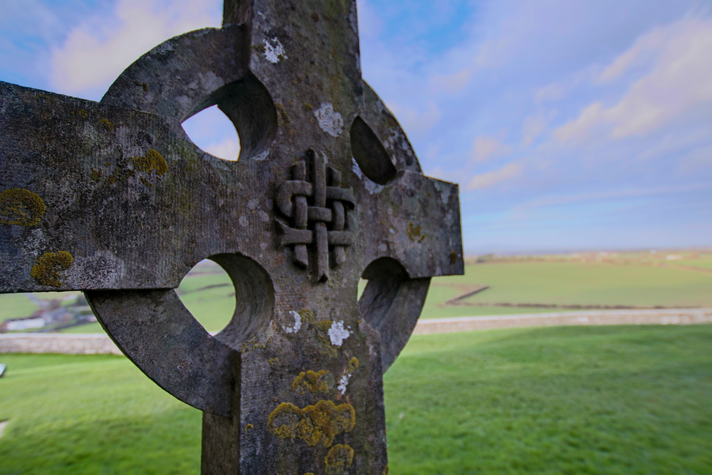 Tombstone Marker at Rock of Cashel in Ireland