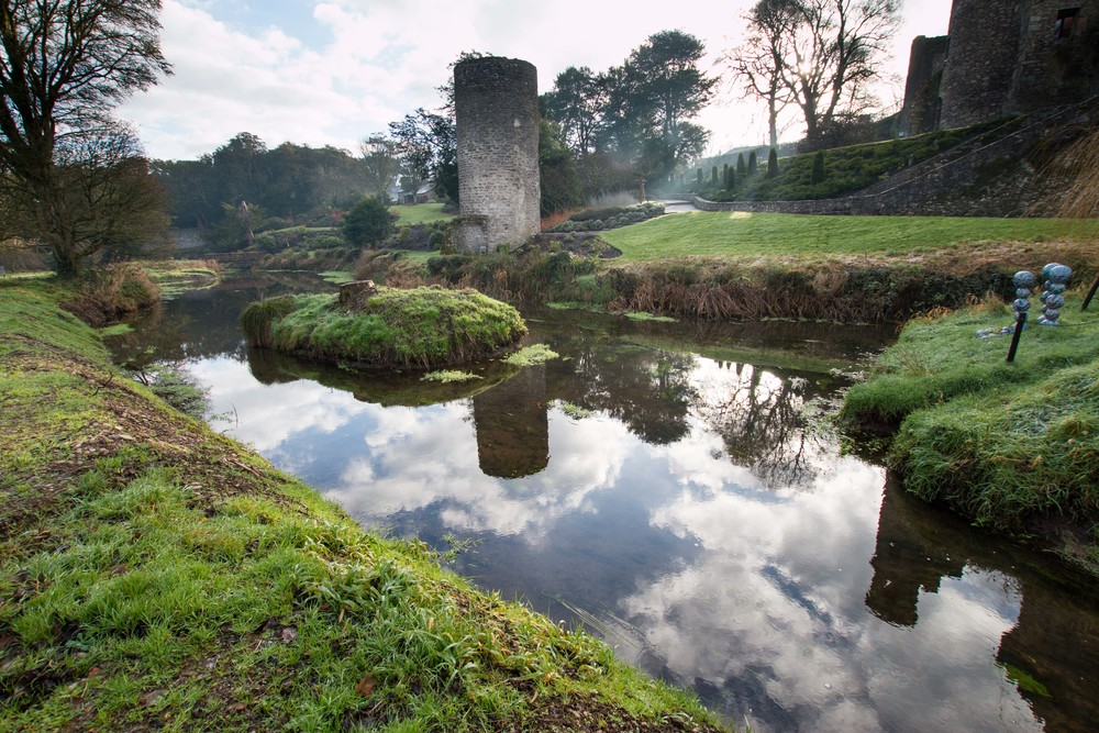 Watch tower in front of Blarney Castle