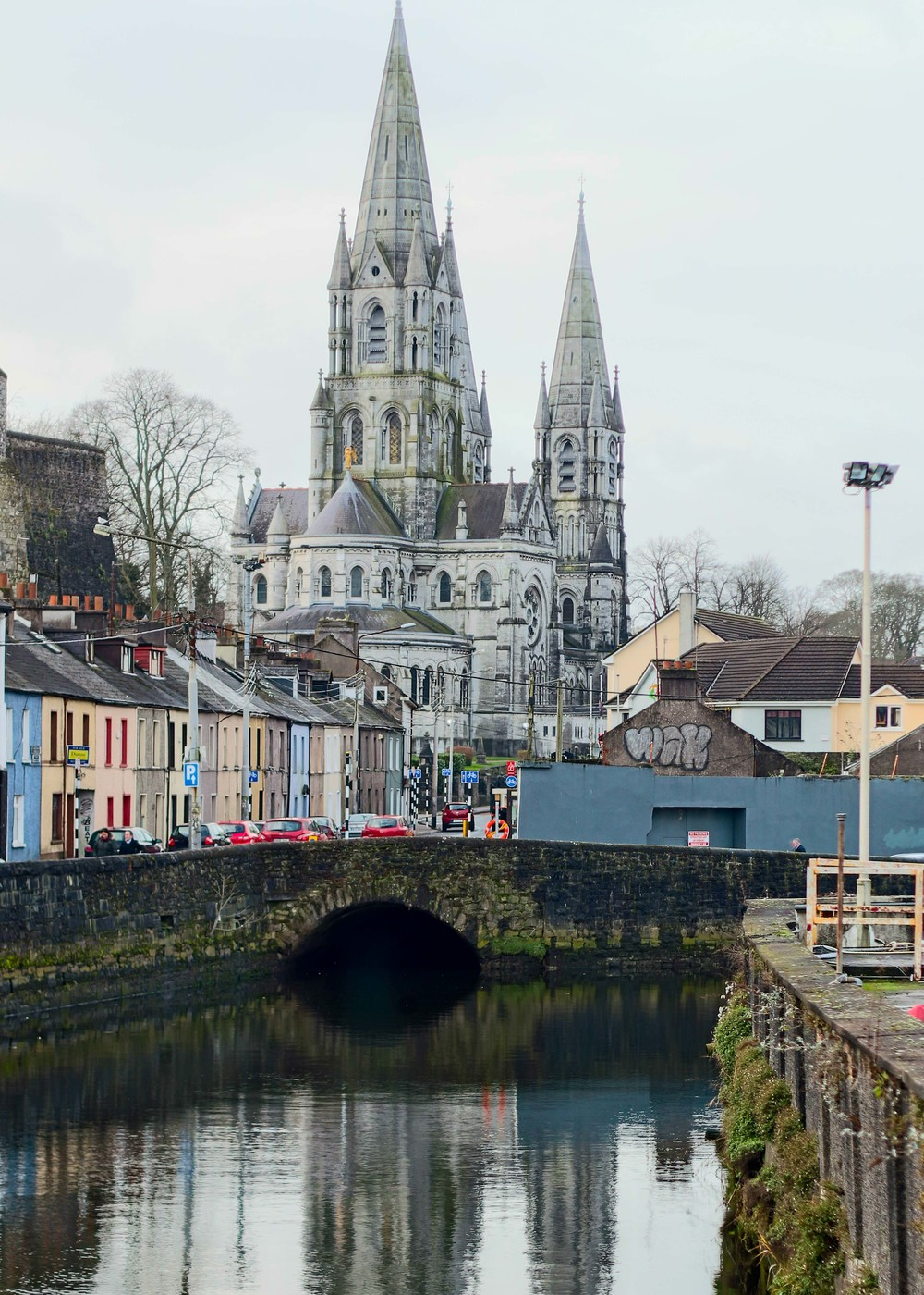 St. Finn Barre's Cathedral in Cork with the River Lee